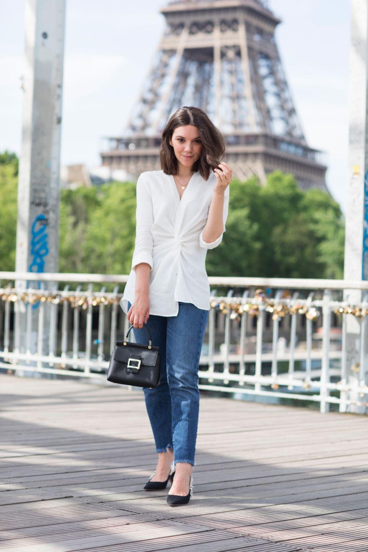 Blue jean, white shirt